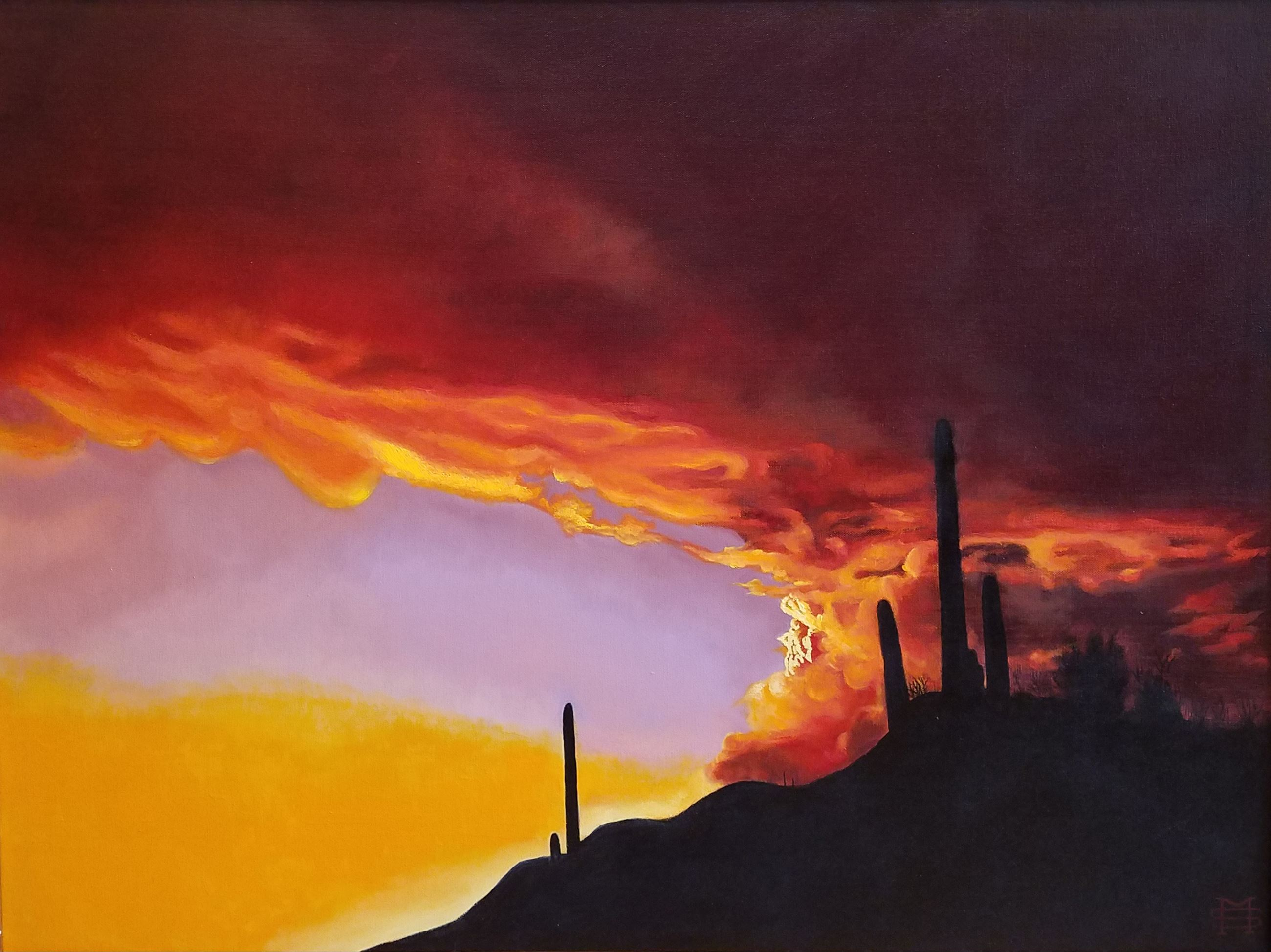 Arizona-Sunset. Stoyanov