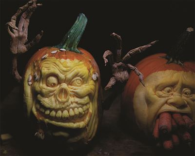 Garden Pumpkin Carvings