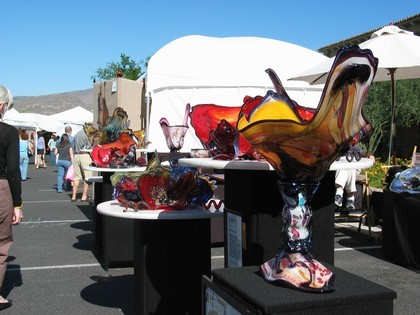 Beautiful Art Glass for sale at the show.