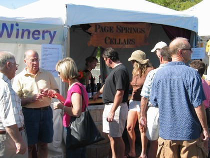 Wine Tasting is popular at this show.